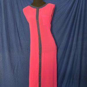 Dress pink navy trim
